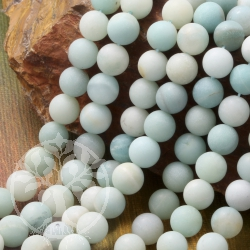 Amazonite Gemstone Beads 8mm matt