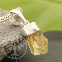 Citrine Silver sterling Pendant 22mm