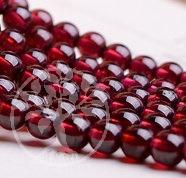 Granatperlen Perlen aus Granat Strang8-9mmx40cm