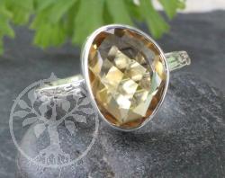 Citrin Ring Silber 925 - Sunshine 57 Gross