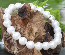 Bracelet Pearls And Sterling Silver925 10mm 18cm