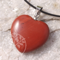Red Jasper Heart Pendants
