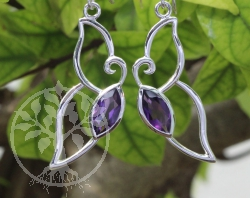 Amethyste Earrings Faceted Sterlingsilver 925 12x45mm