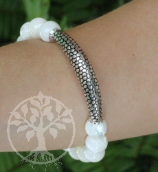 Shell bracelet Sterlingsilver 925 10mm 19cm