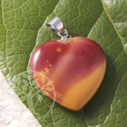 Mookaite Heart Pendants