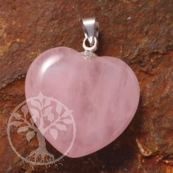 Rosa Quartz Heart Pendants