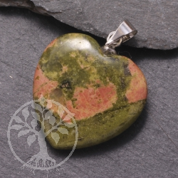 Unakite Heart Pendants
