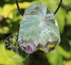 Fluorite Gemstone Pendant Facetted