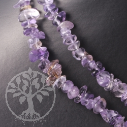 Amethyst Splitterkette mit Citrin