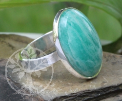 Amazonite Ring Oval Sterlingsilver 925 Size 54 20x23cm