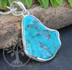 Turquoise Pendant Sterlingsilver925 28x42cm