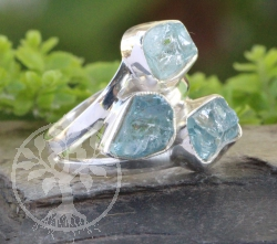 Aquamarine Ring Sterlingsilver 925 18x22mm Size 51