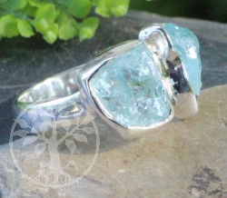 Aquamarine Ring Sterlingsilver 925 11x22mm Size 54