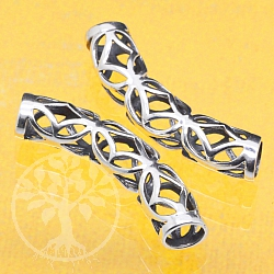 Silver Bead Tube Curved Sterlingsilver 925 7x34mm
