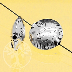 Silver Bead Fish Scholli Silver 925 16mm