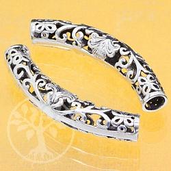 Silber Perle Flori 925 Silber 48x8mm