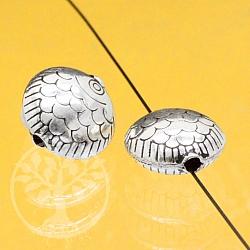 Silberperle Fisch Schollis Babies Runde und Flache Perle Silber 925 12mm
