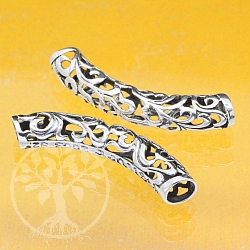 Silver Tube Curved Sterlingsilver 925 8X45mm