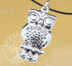 Owl Pendant Sterlingsilver 925 42mm