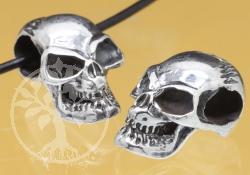 Silberperle Thai Schädel Silber 925 12x10mm