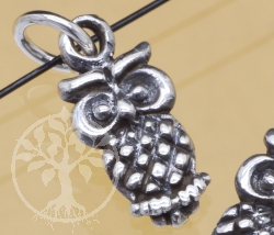 Silver Owl Beads Sterlingsilver 925 16mm