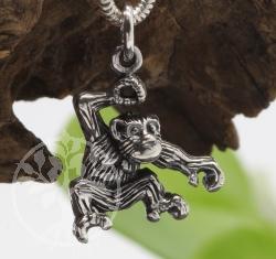 Affe Anhänger Silberschmuck Anhänger 23mm