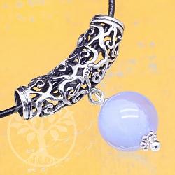 Oxidierte Silberperle 925 25x7mm Perle für Armband oder Kette