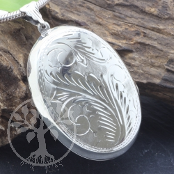 Silver Pendant Locket Sterlingsilver 925 39x42mm