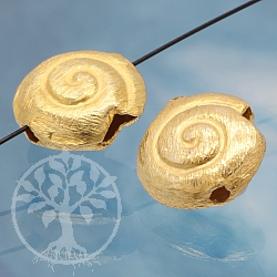 Silver Beads Snail Shell Sterlingsilver 925 12X12mm