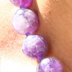 Amethyst bright Neklace 45cm/12mm Natural Amethyste Beads