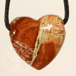 Roter Brekzien Jaspis Herz Anhänger Belly 30*25mm