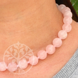 Rose quartz ball chain ca. 45cm/16mm