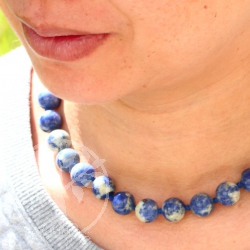 Sodalite Neklace 45cm/16mm - Seadream