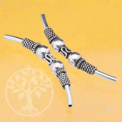 Silver Bead Tube Curved Sterlingsilver 925 5x39mm