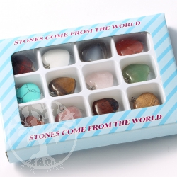 Edelstein Herz Anhänger Sammlung 12 Herzen Steinherzen