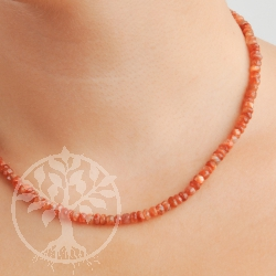Sunstone Necklace Facetted Beads 7MM