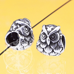 Silver Beads Owl Sterlingsilver 925 8x9mm