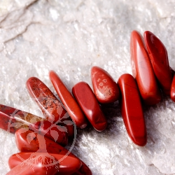 Red Jasper Bead Bracelet Mahaba