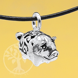 Silver Pendent Piggy Sterlingsilver 925 14x15mm
