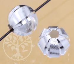 Silberperle Faro 5.5mm 1.5mm Loch Silber 925