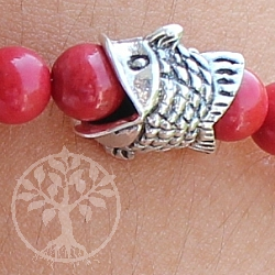 Silver Bead Fish Sterlingsilver 925 9x6mm Fishbead