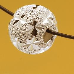 Silberperle 925 6mm Stern mattiert Schmuckperle Lasercut 6mm 1.8mm Loch