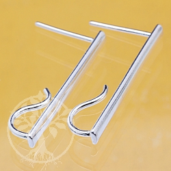 Earhook Sterlingsilver Stea 925 3x25mm