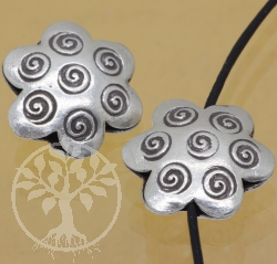 Silver Beads Flower Sterlingsilver 925 6x17mm