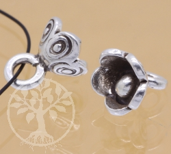 Silver Beads Flower Sterlingsilver 925 8x12mm