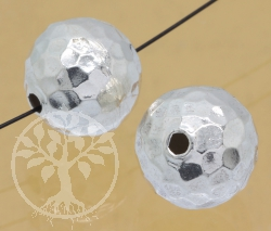 Silberperle Kickers 12mm Silber 925 Schmuckperle 2-3mm Loch