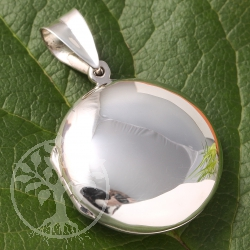Medaillon made from real silver 30mm round