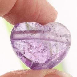Herz aus Amethyst AA-Qualität 25x22mm