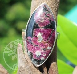Eudialyte Ring Sterlingsilver Eye 925 25x33 mm Size 59