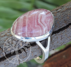Rhodochrosite Ring Sterling Silver 925 21X26 mm Size 57